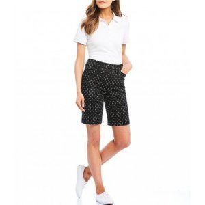 Intro Wren Polka Dot Sateen Bermuda Shorts